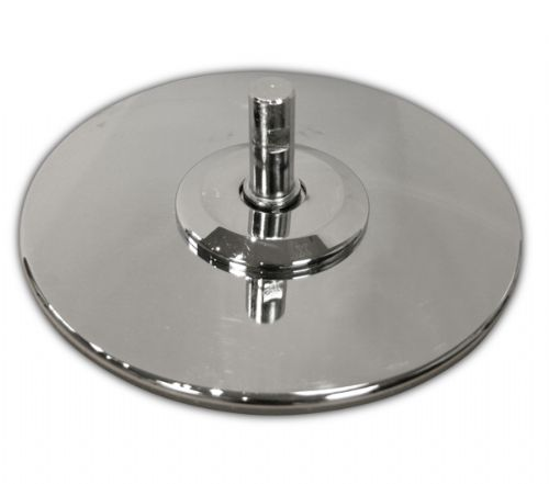 Base Plate 230mm - Chrome - No Insert - Slight Cosmetic Damage